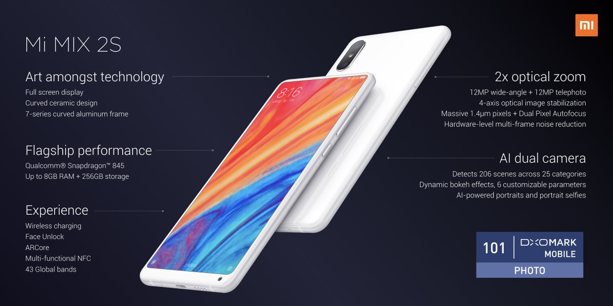 Mi Mix 2S with Snapdragon 845