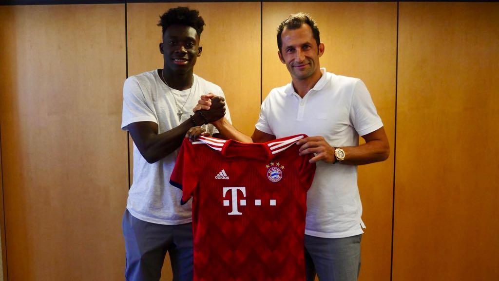 17 year Canadian star Alphonso Davies signed by Bayern