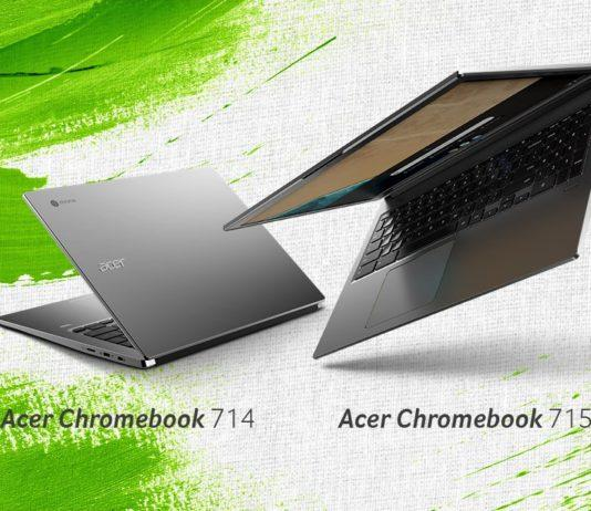 Acer Chromebook 715 & Chromebook 714 with 8th Gen Intel CPUs launched