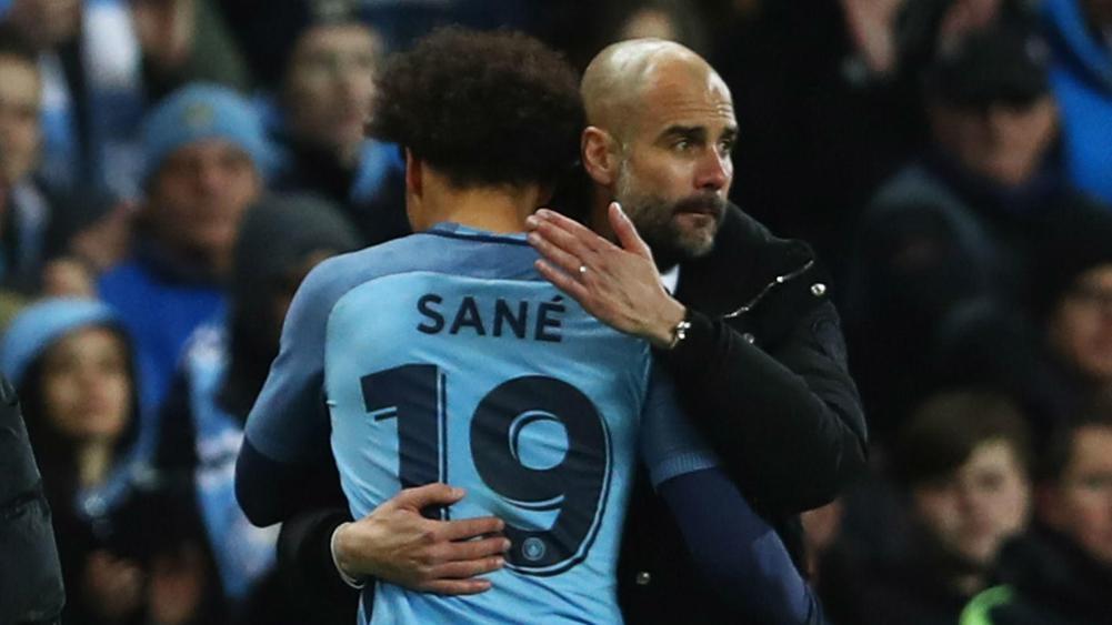 Sane and Guardiola