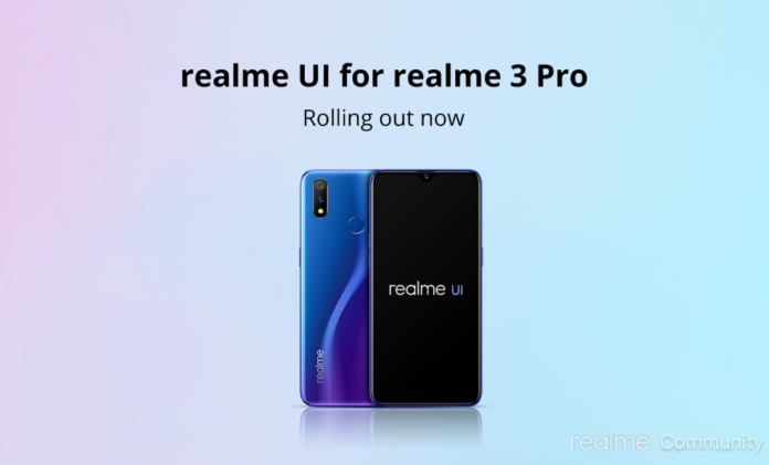 Realme UI based on Android 10 now starts rolling onto Realme 3 Pro