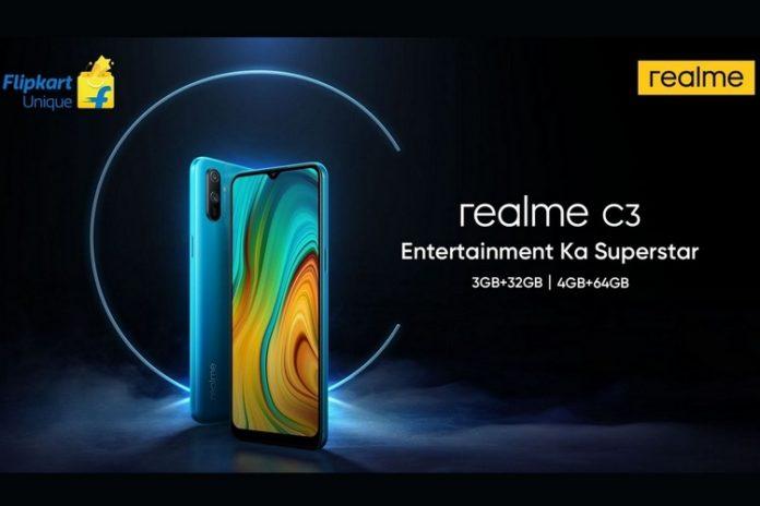 Realme C3 design & specifications teased by Flipkart