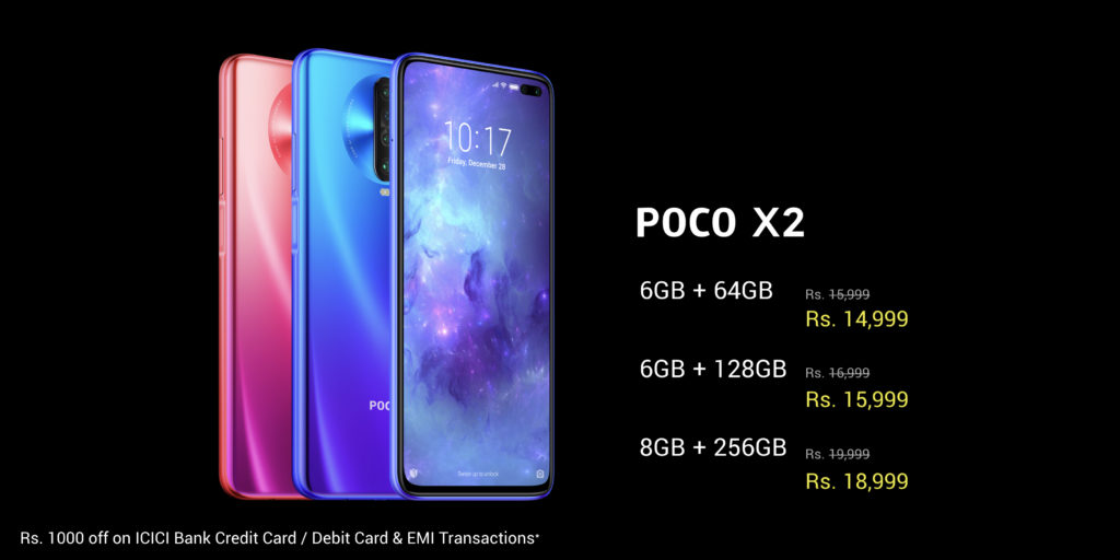 POCO X2 with 120Hz Display, 64MP quad-camera & Snapdragon 730G launched at ₹15,999