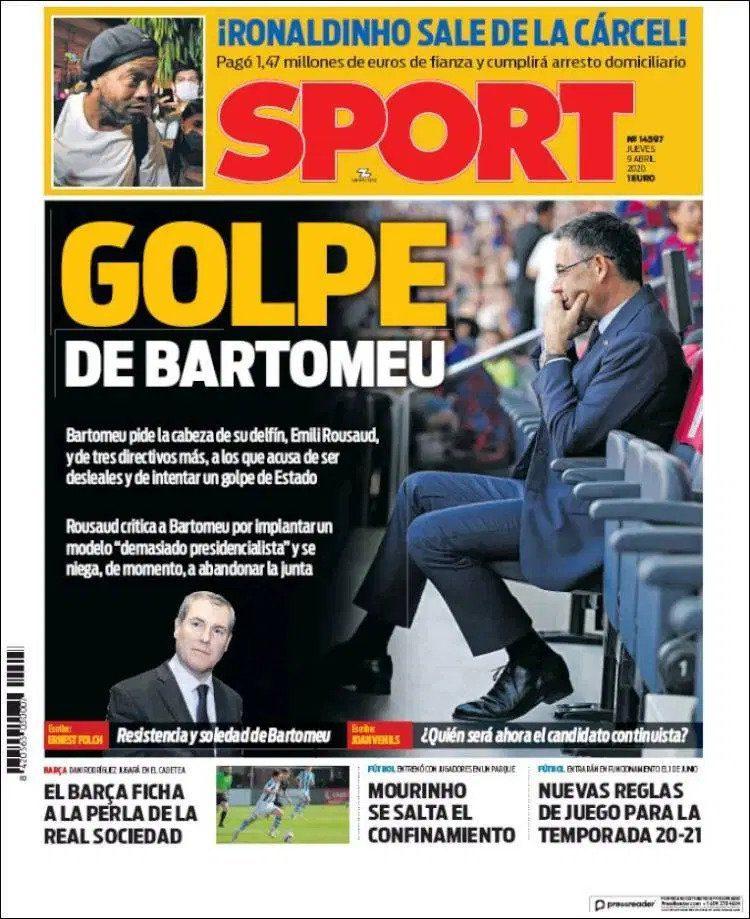 Bartomeu in dilemma, six directors of Barcelona board resign