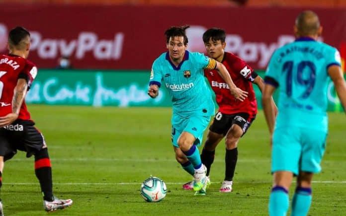 Messi scores 20 goals for the 12th consecutive season as Barcelona thrashes Mallorca by 4-0