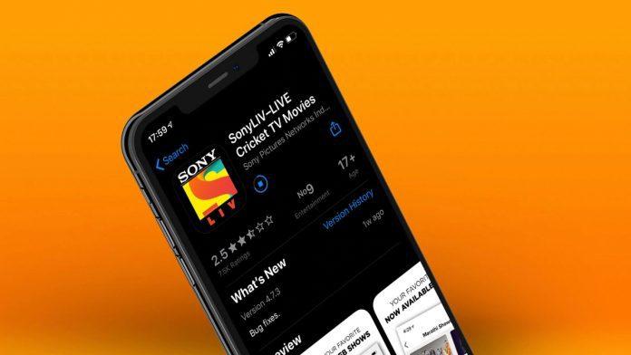 SonyLIV App_TechnoSports.co.in