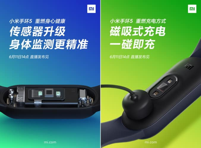 Mi Band 5 to feature a bigger display, SpO2 sensor & magnetic charger