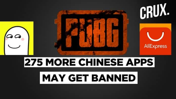 275 more Chinese and Chinese company backed apps including PUBG Mobile, AliExpress, Ludo World may ban in India_TechnoSports.co.in