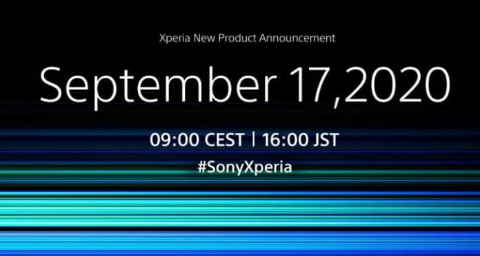 Sony's 17th September announcement event will be on Xperia 5 II