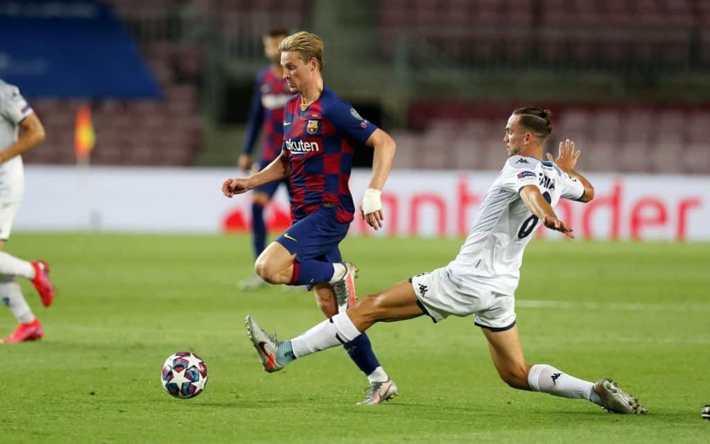 Here's why Frenkie de Jong had his hand bandaged in the match against Napoli