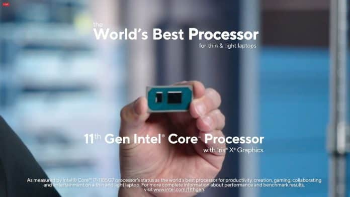 Intel Tiger Lake lineup for laptops announced: up to 4.8GHz turbo confirmed
