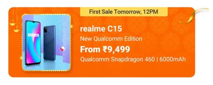 Realme C15 Qualcomm Edition launched in India starting at INR 9,499