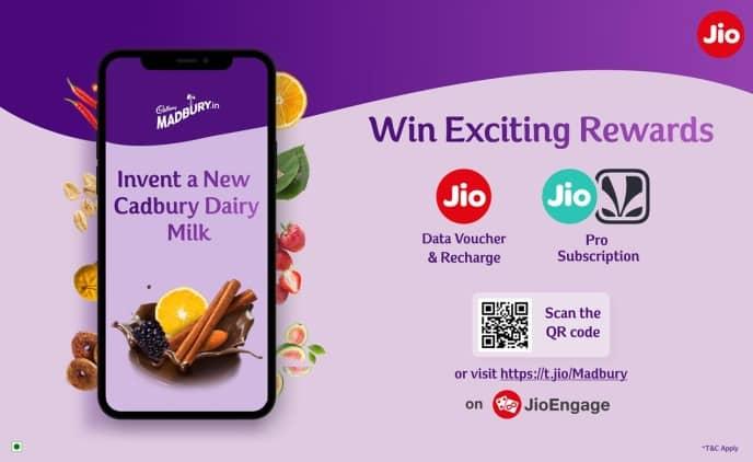 Jio brings new Jio Cadbury Madbury Offer on JioEngage