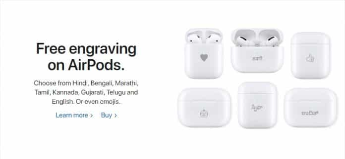 Did you know that Apple even provides Free engraving on AirPods if purchased?
