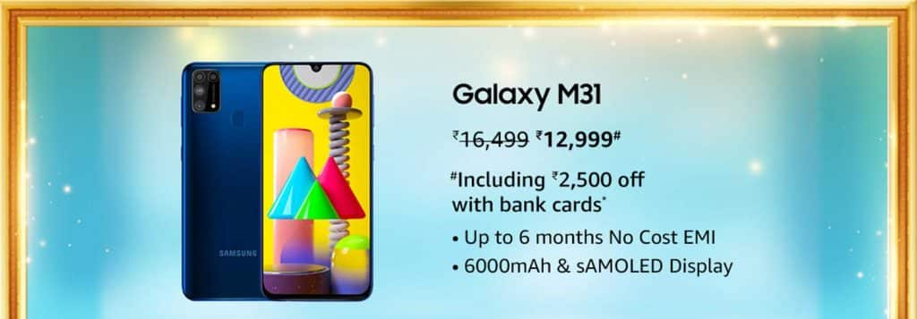 Best deals on Samsung Galaxy M series smartphones on Amazon Great Indian festival