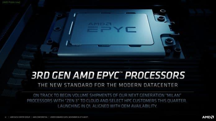 AMD EPYC Milan CPUs to be coming in Q1 2021