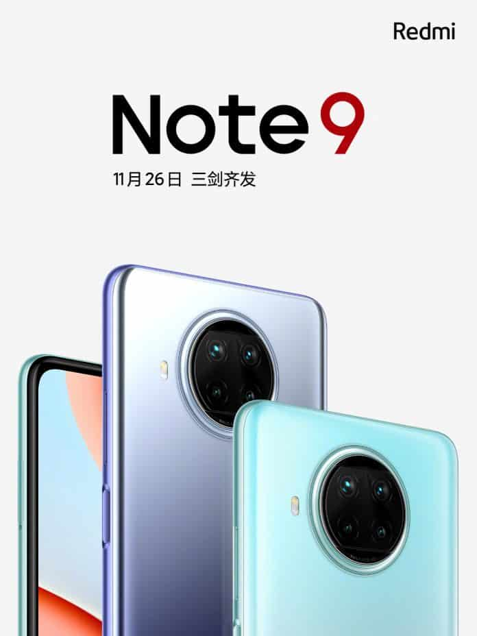 Redmi Note 9 5G series will release in China on November 26