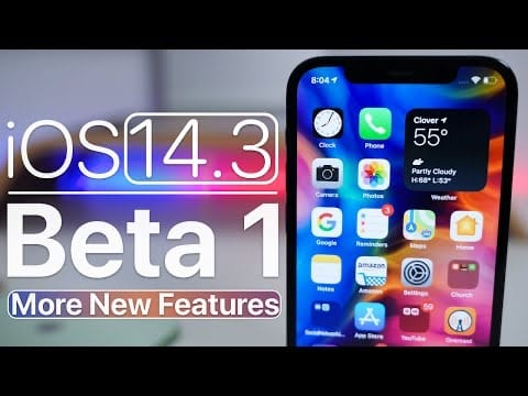 iOS 14.3 Beta update from Apple including Apple ProRAW, Home updates, Shortcuts, and more