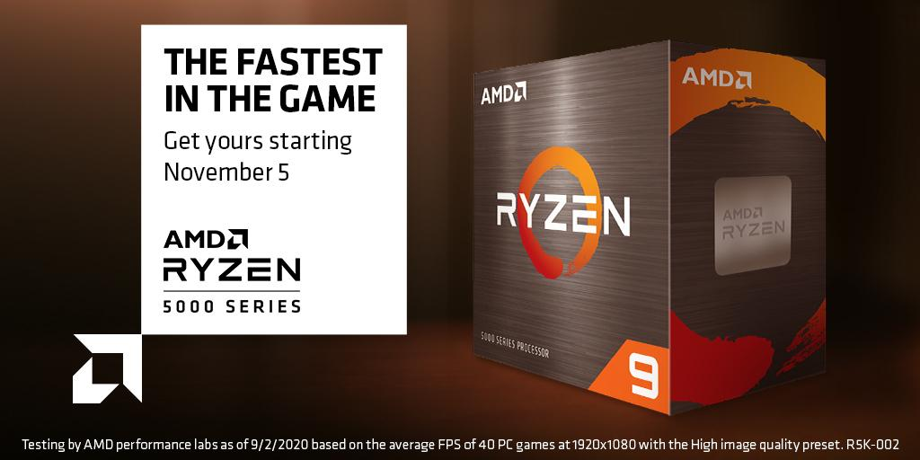 New AMD Ryzen 5000 series processors post the highest single-core scores on Geekbench 5 database