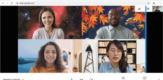 Google Meet now allows to customize video background_TechnoSports.co.in