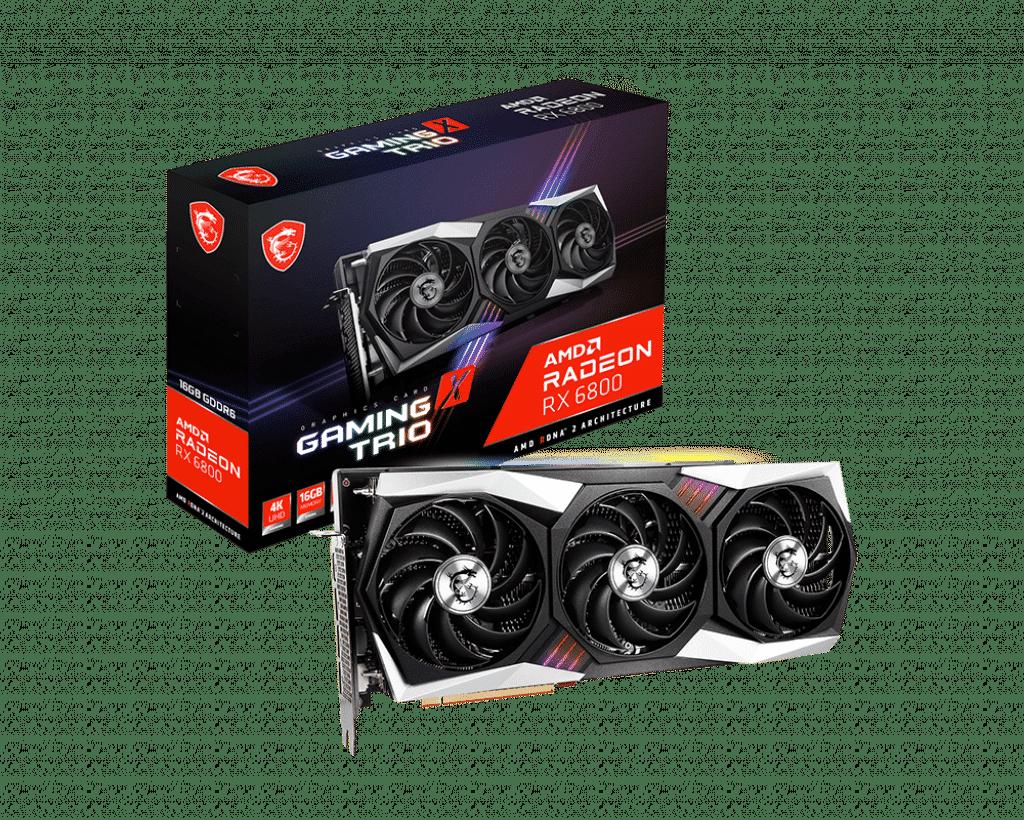 MSI announces its custom Radeon RX 6800 XT & RX 6800 Gaming X Trio GPUs