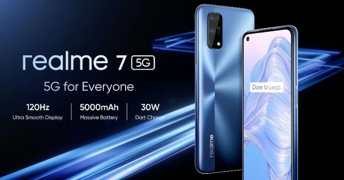 Realme 7 5G announced with Dimensity 800U and 120Hz display