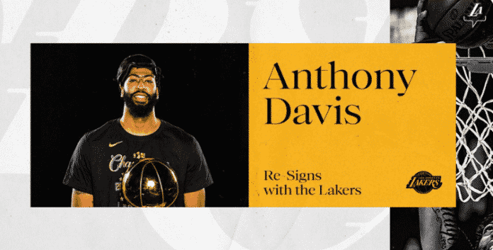 Lakers have successfully re-signed Anthony Davis.