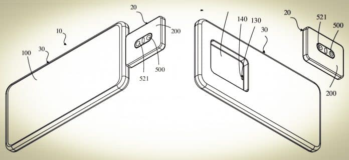 Oppo files a patent for a smartphone with a detachable camera module
