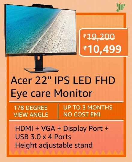 Blockbuster deals on Monitors on Amazon Great Republic Day Sale