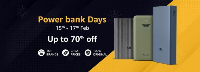 Amazon Powerbank Days providing up to 70% off_TechnoSports.co.in