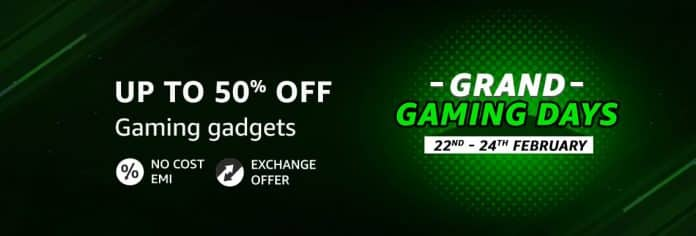 Amazon India brings Grand Gaming Days until 24th February