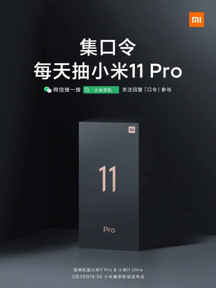 Xiaomi Mi 11 Pro and Mi 11 Ultra launch confirmed on March 29