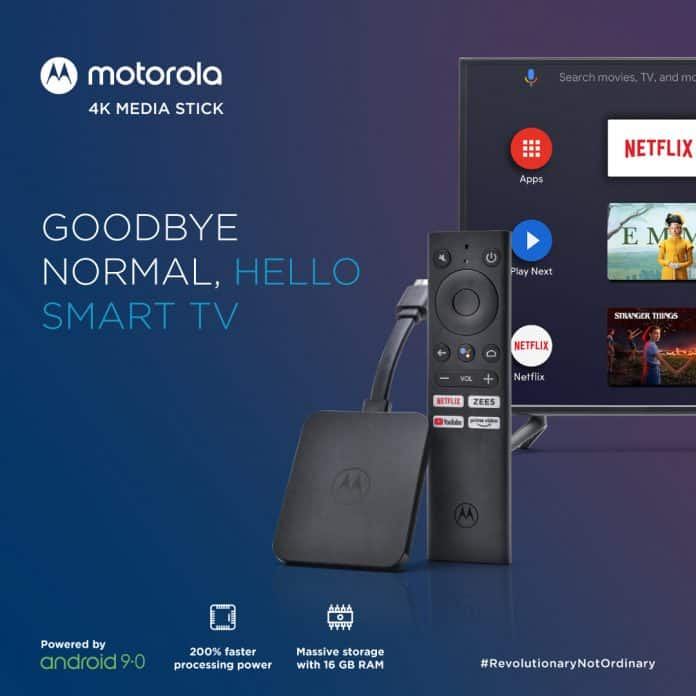 Flipkart launches Motorola 4K Android TV Stick to the Indian Market_TechnoSports.co.in