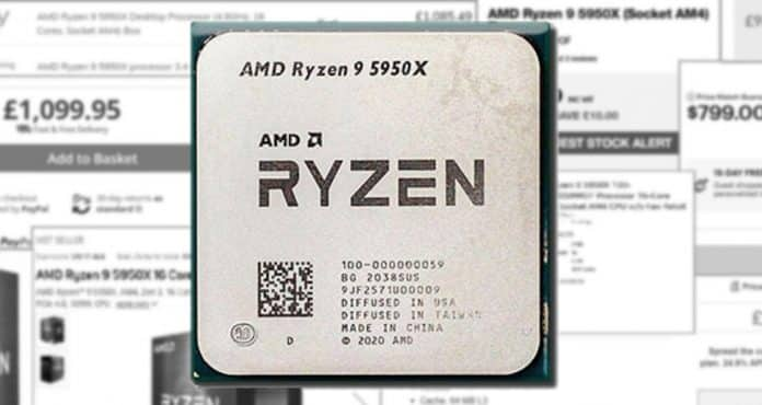 AMD's Ryzen 9 5950X has its prices higher than the Burj