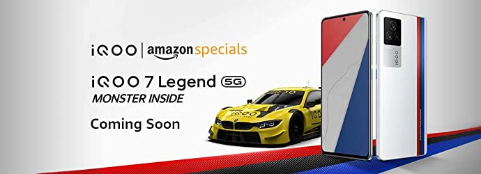 iQOO 7 Legend will be available in India via Amazon