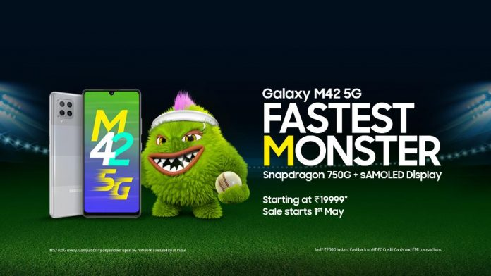 Samsung M42 5G launched in India with Snapdragon 750 at an introductory price of Rs.19,999
