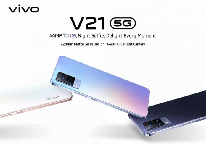 Vivo V21 5G launched in India with a 44 MP selfie camera at Rs.29,990