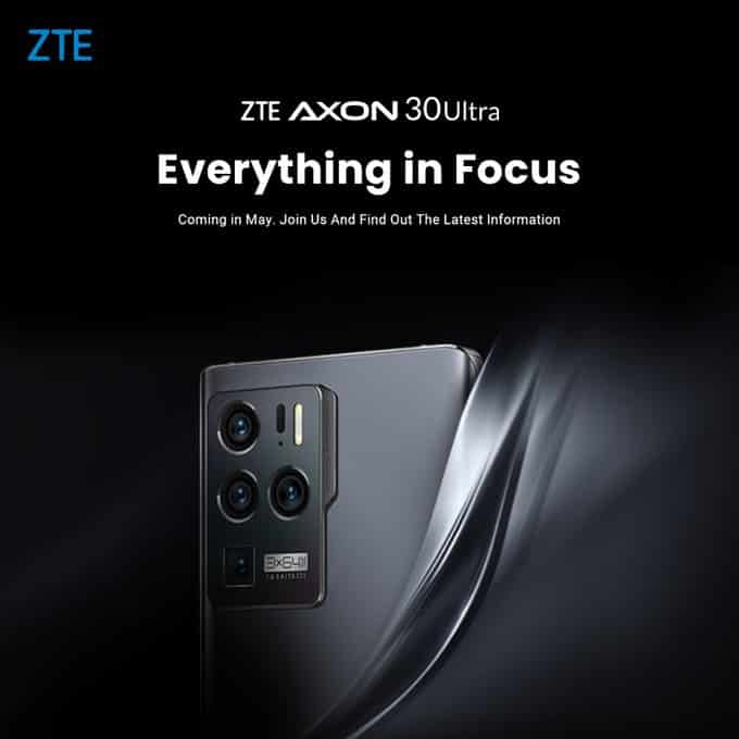 ZTE Axon 30 Ultra 5G launching in May globally