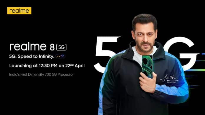 Realme 8 5G launching in India on April 22