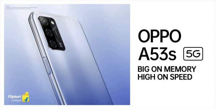 Oppo A53s 5G Launching on 27th April in India