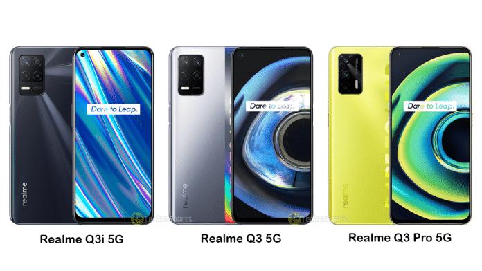 Realme Q3i, Realme Q3 5G, and Realme Q3 Pro launched in China