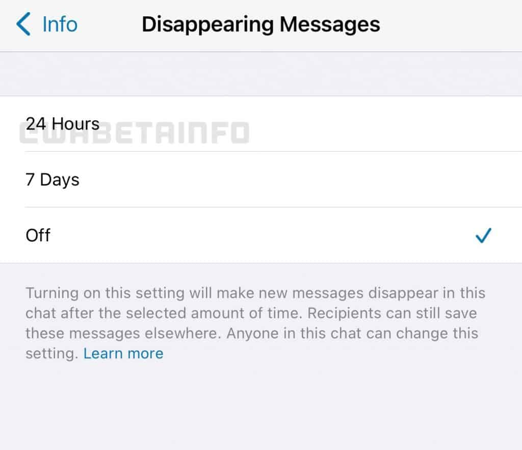 WhatsApp Disappearing Messages feature improvement_TechnoSports.co.in