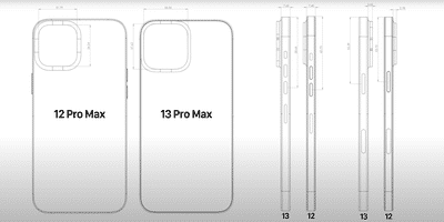 Apple iPhone 13 series CAD leaks hints to have a bigger camera module at the back