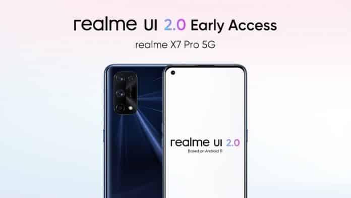 Realme declares the early access program of Realme UI 2.0 for Realme X7 Pro 5G