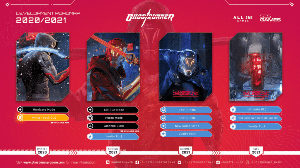 505 Games acquires Ghostrunner IP, teases more Cyperpunk Ninja action for players this year