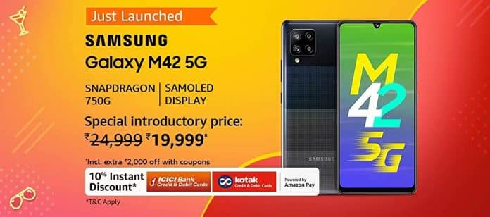 Samsung M42 5G sale is live now via Amazon India, available at just Rs.19,999