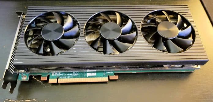 Dell's custom Radeon RX 6800 XT from an Alienware system pictured