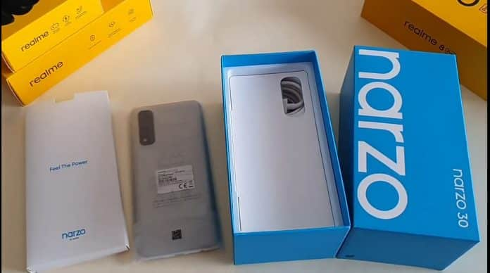 Realme Narzo 30 Unboxing video reveals specifications of the device