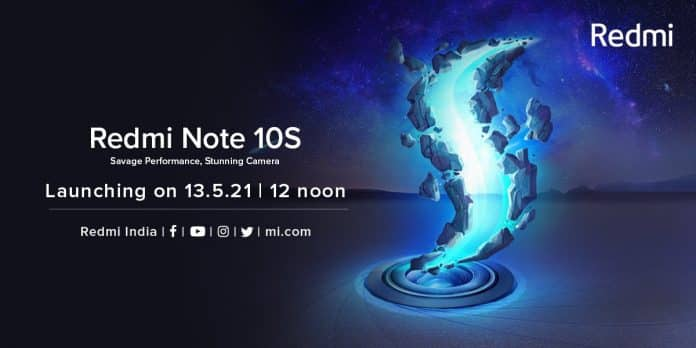 Redmi Note 10S Launching on 13th May in India