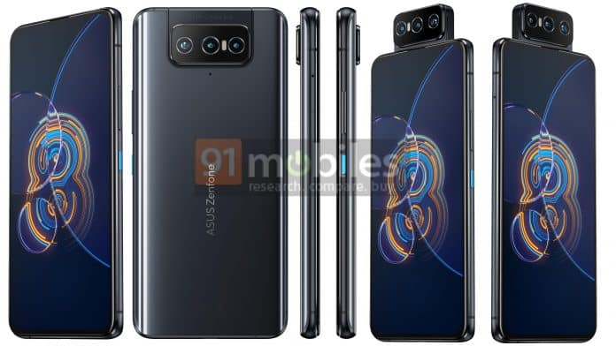 ASUS Zenfone 8 and Zenfone 8 Flip full specs and renders leaked ahead of May 12 launch